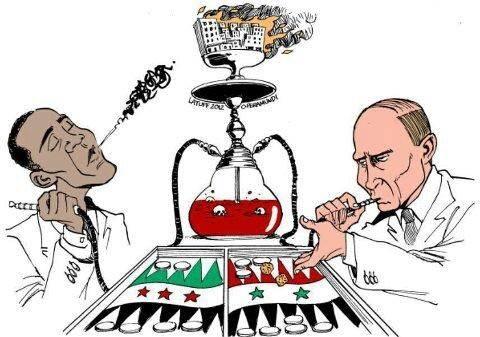 بوتين و أوباما مدمنين لا يملان من دمائنا و دمارنا